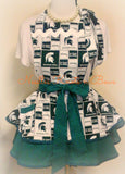 Michigan State University Spartens Mens Apron, Aprons, Spartens Football, Game Day Apron, Womens Apron