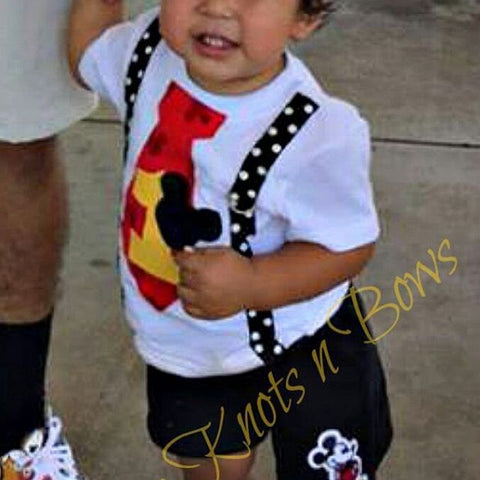 Boys Mickey Mouse Birthday Outfit 1st