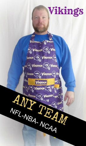 Minnesota Vikings Apron, Mens Aprons, Womens Aprons, Game Day, Vikings Football Apron, Gifts for Him