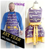 Womens Minnesota Viking  Apron, Aprons, Womens Flirty Vikings Football Apron