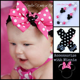 Girls Pink Minnie Mouse Romper, Girls 1st Minnie Mouse Birthday Outfit, Girls Cake Smash