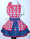New England Patriots Apron, Mens, Womens Aprons, Patriots Game Day Football Apron, Tailgaters