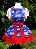 New York Giants Apron, Womens Apron, Mens Apron, Game Day Football Giants Unisex Apron, Football Team Aprons