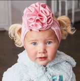 Turban Headband, Girls Top Flower Turban Headband, Toddlers, Baby Turban Headband