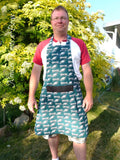 Philadelphia Eagles Womens Apron, Womens Eagles Apron, Football, Game Day, Tailgating, Aprons