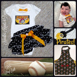 Pittsburgh Pirates Girls Game Day Outfit, Baby Girls Baseball Coming Home Outfit