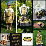 Girls Pittsburgh Steelers Dress, Girls Steelers Game Day Dress, Baby Girls Football Dress