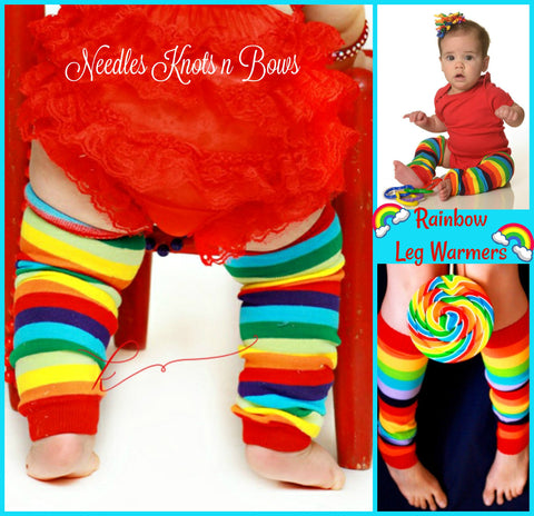 Rainbow Leg Warmers, Rainbow Striped Legwarmers, Boys, Girls, Leg Warmers