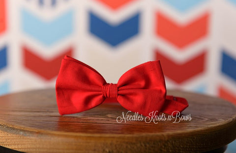 Red Bowtie, Valentines Day Bow Tie, Christmas Bowtie, Boys Bowties, Men