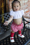 Girls Boho Style Crop Top, Baby Girls Crop Tops, White or Black Boho Style Tops