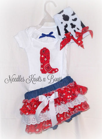 Girls Western Cowgirl Outfit, Girls Western Birthday Outfit, Cowgirl Birthday, Western Pageant Outfit