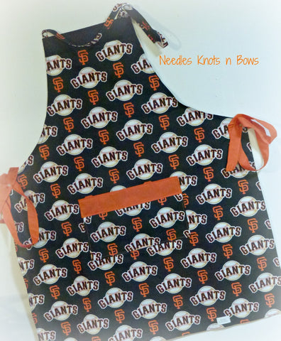 San Francisco Giants Apron, Mens, Unisex, Men, Apron, Womens, Baseball Team Apron, Sports