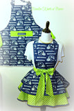Seattle Seahawks Mens Apron, Aprons, Football, Game Day Team Apron