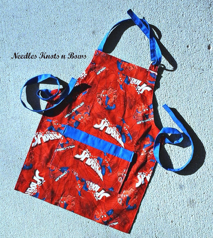 Boys Spiderman Apron, Kids Aprons, Aprons for Toddlers, Childs Apron