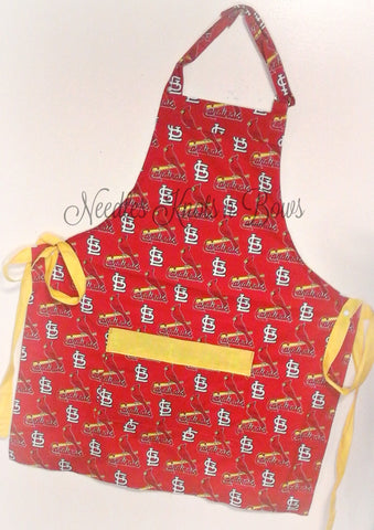St. Louis Cardinals Apron, Mens Aprons, Womens Aprons, Cardinals Baseball Game Day Apron, Gifts for Him