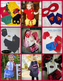 I also make other superhero costumes for babies and toddlers.  Custom orders are always welcome