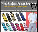 Boys and Mens Suspenders, Teens Suspenders, Toddlers, Suspenders, Weddings, Proms, Cake Smash