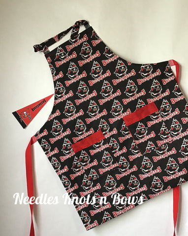 Tampa Bay Buccaneers Apron, Mens - Womens Team Aprons, Football, Game Day, Aprons
