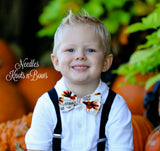 Thanksgiving Bow Tie, Thanksgivng Turkey Bow Tie,Turkey Bowtie, Suit & Tie Accessories