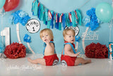 Twins, Boys Cake Smash Set, Thing 1 & Thing 2 Cake Smash Set, Twin Boys Cake Smash