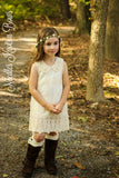 Girls Ivory Lace Vintage Dress, Girls Country Dress, Flower Girls Dress, Pearl Lace Cream Dress, Sizes 2, 3, 4, 5, 6