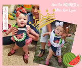 Baby Girls Watermelon Outfit, Watermelon Romper, Girls Clothes