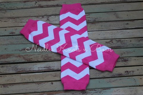 Pink Chevron Print Legwarmers, Leg Warmers, Girls Accessories, Baby Girls
