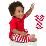 Red White Striped Leg Warmers, Boys / Girls Legwarmers, Baby Accessories, Toddlers, Dance