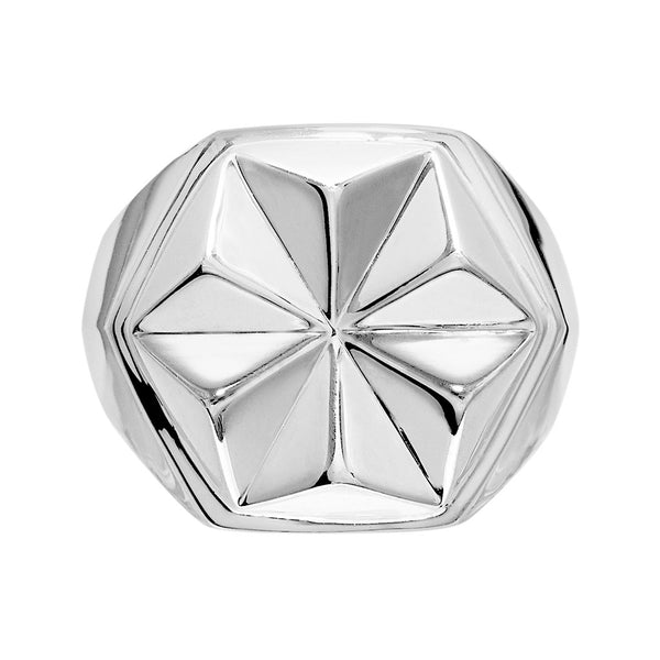 DELTA Unisex Star Ring Silver - Secoo