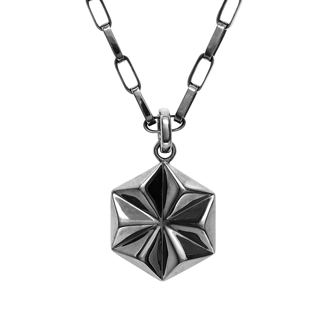 DELTA Unisex Star Necklace Black - Secoo