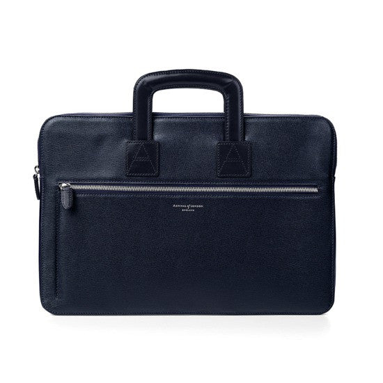 Connaught Blue Leather Document Case
