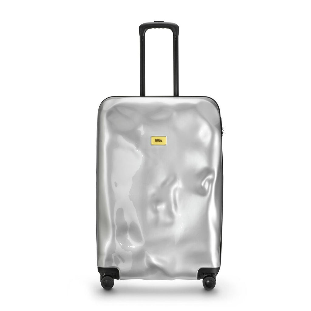 Sliver Meda Cabin Trolley - Small (With 4 Wheels) - Secoo