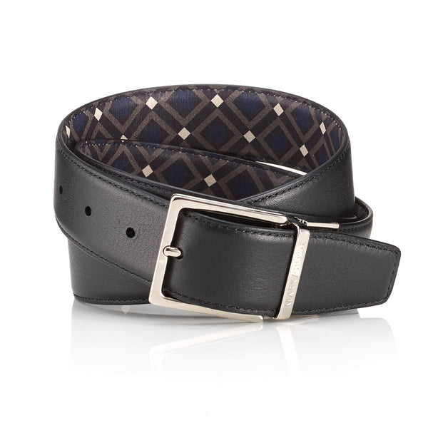 """Scuola"" Black / Venice Double Sided Belt"