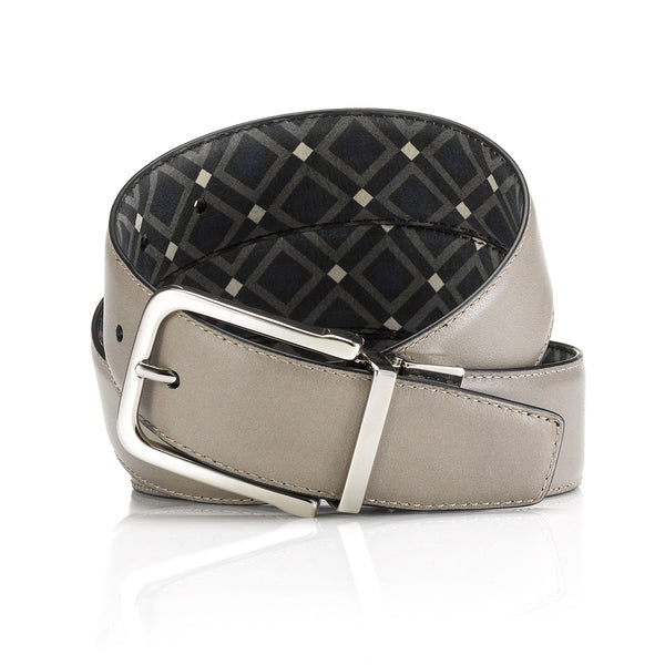 """Scuola"" Grey / Venice Double Sided Belt"