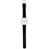 Bankers - White Dial, Black Strap, 34 mm