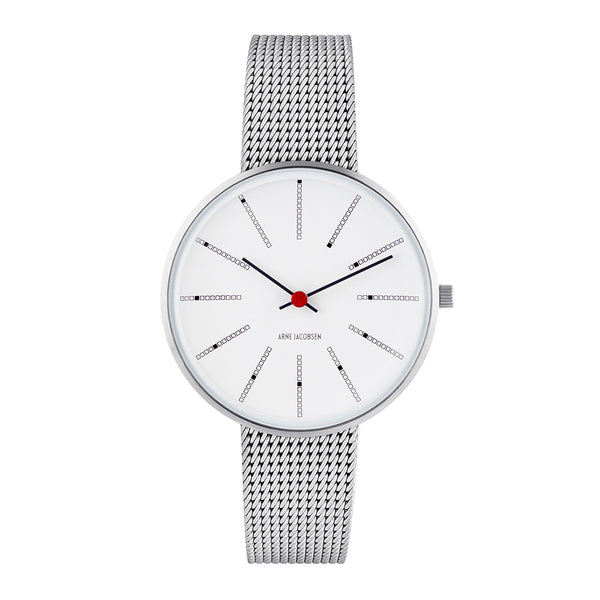 Bankers - White Dial, Mesh Band, 34 mm