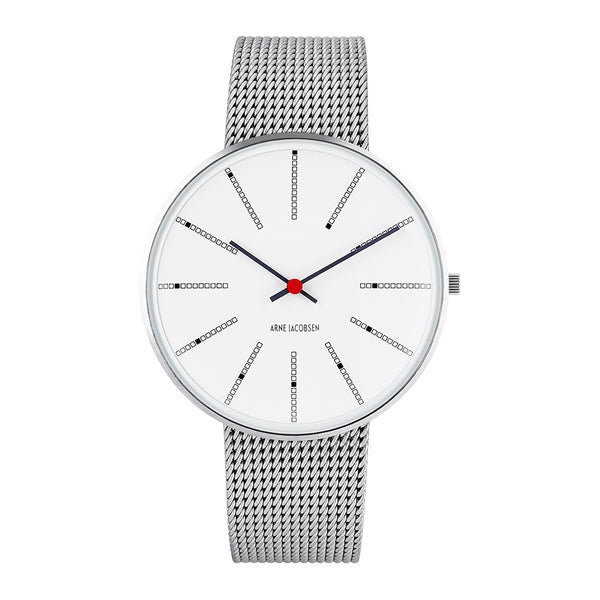 Bankers - White Dial, Mesh Band, 40 mm