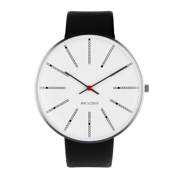 Bankers - White Dial, Black Strap, 46 mm