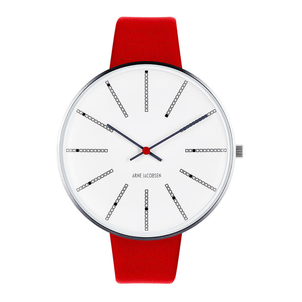 Bankers - White Dial, Red Strap, 46 mm - Secoo