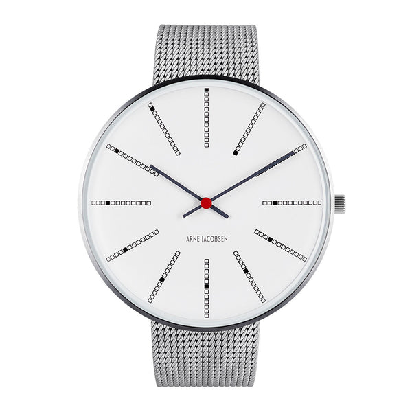 Bankers - White Dial, Mesh Band, 46 mm