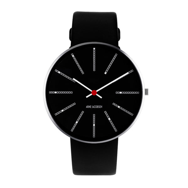 Bankers - Black Dial, Black Strap, 40 mm - Secoo