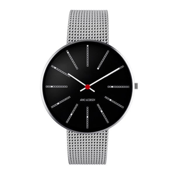 Bankers - Black Dial, Mesh Band, 40 mm - Secoo