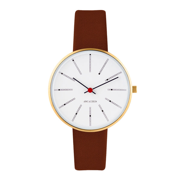Bankers - IPG, White Dial, Brown Strap, 34 mm - Secoo