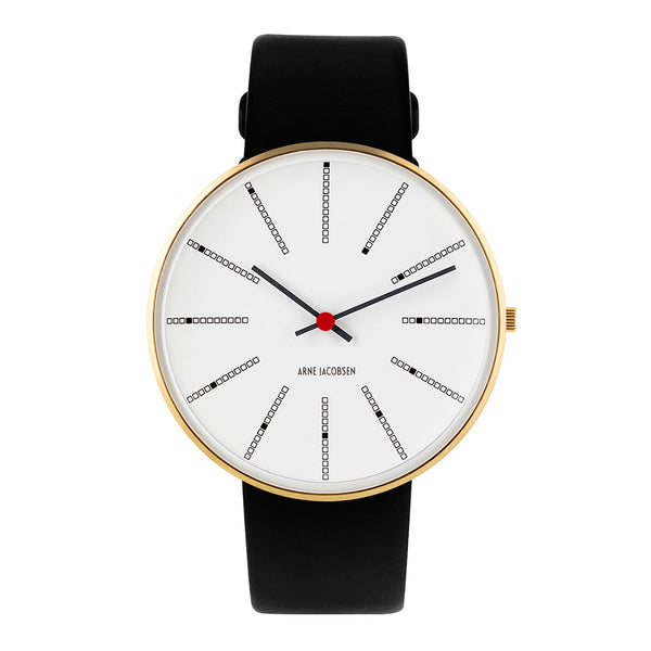 Bankers - IPG, White Dial, Black Strap, 40 mm