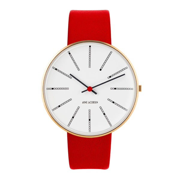 Bankers - IPG, White Dial, Red Strap, 40 mm
