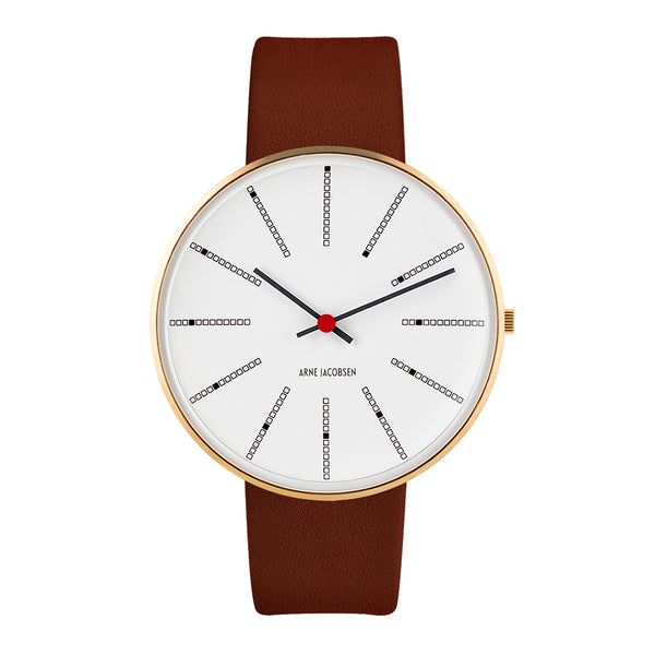 Bankers - IPG, White Dial, Brown Strap, 40 mm