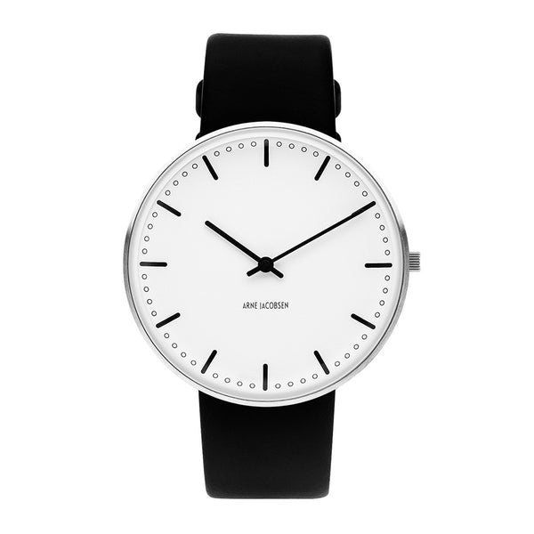 City Hall - White Dial, Black Strap, 40 mm