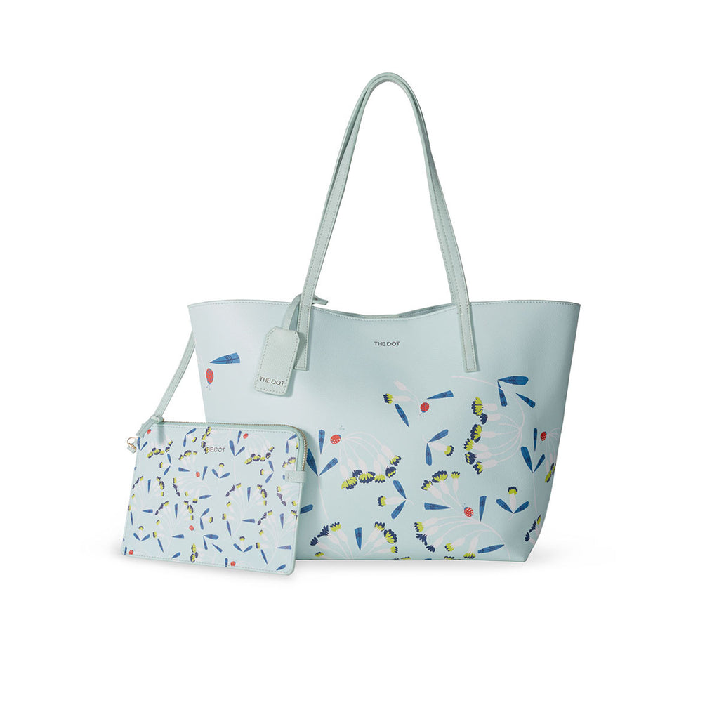 Plants Bugs-Tote Bag With Small Clutch