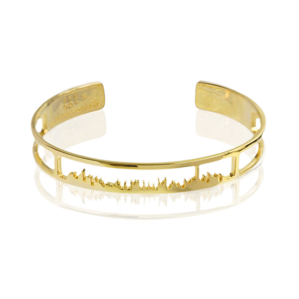 Cristina Ramella x SECOO/ 24K Gold''Hong Kong Skyline'' Bangle