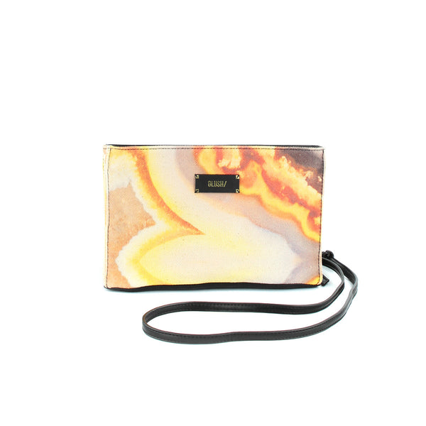 Hard Swirls Rectangular Crossbody - Orange Swirl